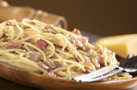 Pasta alla carbonara-RISTORANTE BELVEDERE- Roccaforte Mondovì