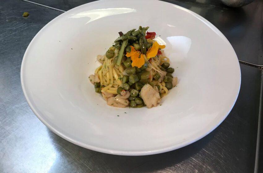 Linguine agli asparagi-LA BRICOLA IN LAGUNA PALACE HOTEL – Grado
