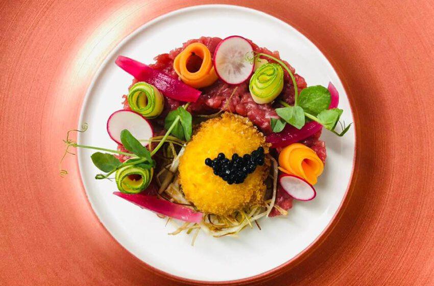 Tartare e verdure-LE MASSIF – Courmayeur