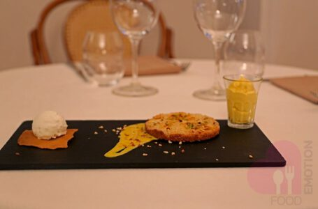 Torta sbrisolona calda, gelato al fior di latte e zabaione al Marsala – Sant'Ambroeus – Bergamo