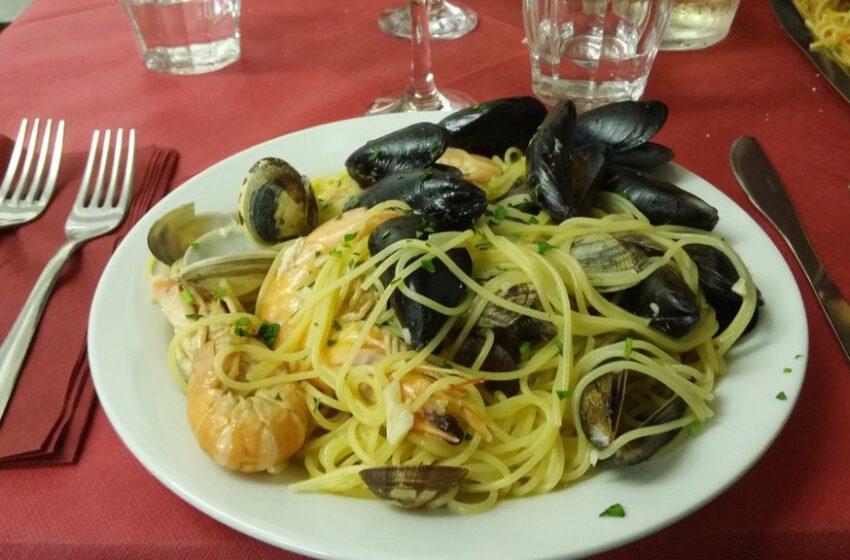 Spaghetti allo scoglio – TRATTORIA PARADISO DI NERVI