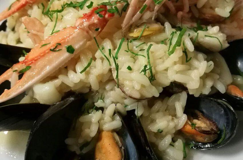 Risotto alla pescatora – Taverna Del Gallo – Bergamo