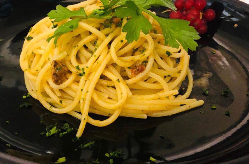 Spaghetti ai ricci di mare – Trattoria Camozzi – Bergamo