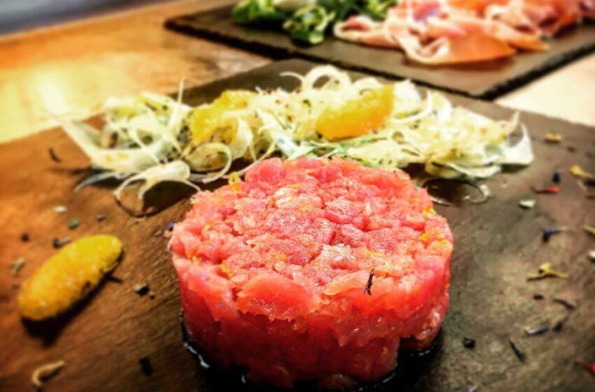 Tartare di Tonno all'Arancia con insalatone di Finocchi – Vecchio Forno – Bergamo