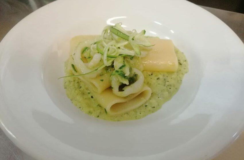 Paccheri calamari e crema di zucchine-MADONNINA – Torino