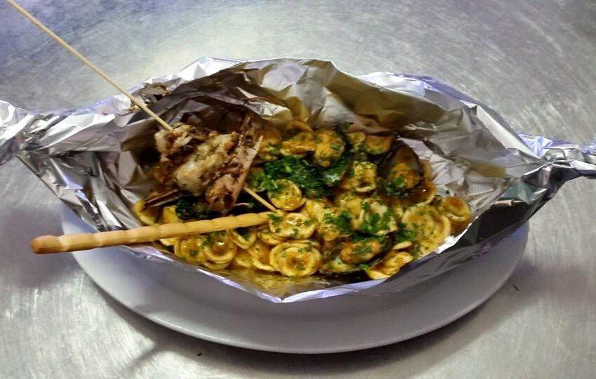 Orecchiette con le cozze e pesto-TRATTORIA MONTEROSA  – Serravalle Sesia