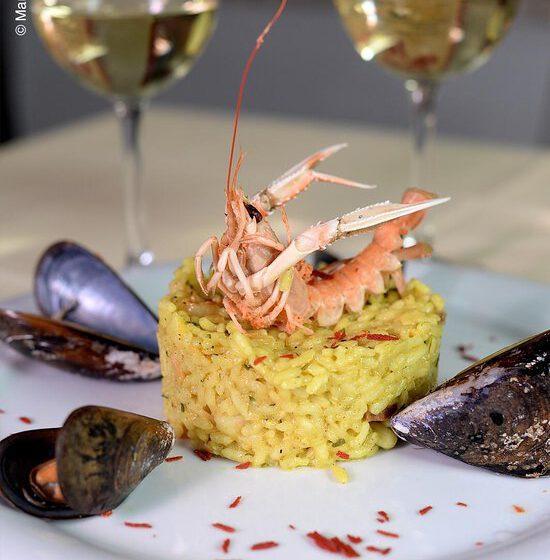 Risotto con calamari gamberi e guanciale-PASTA E BASTA – Torino